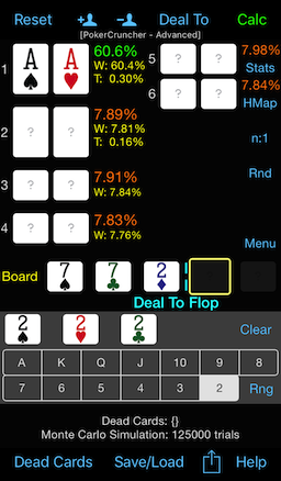 PokerCruncher - Challenge: AA Vs. 5 Opponents On A Paired Flop