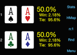PokerCruncher - Equity: AA vs. AA