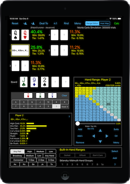 PokerCruncher for iPad - Basic Calculation