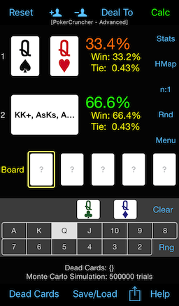 PokerCruncher - Hand Range Combinations (Weights) Calculation